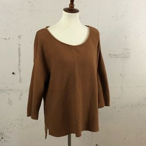 Camel Knit high low Sweater